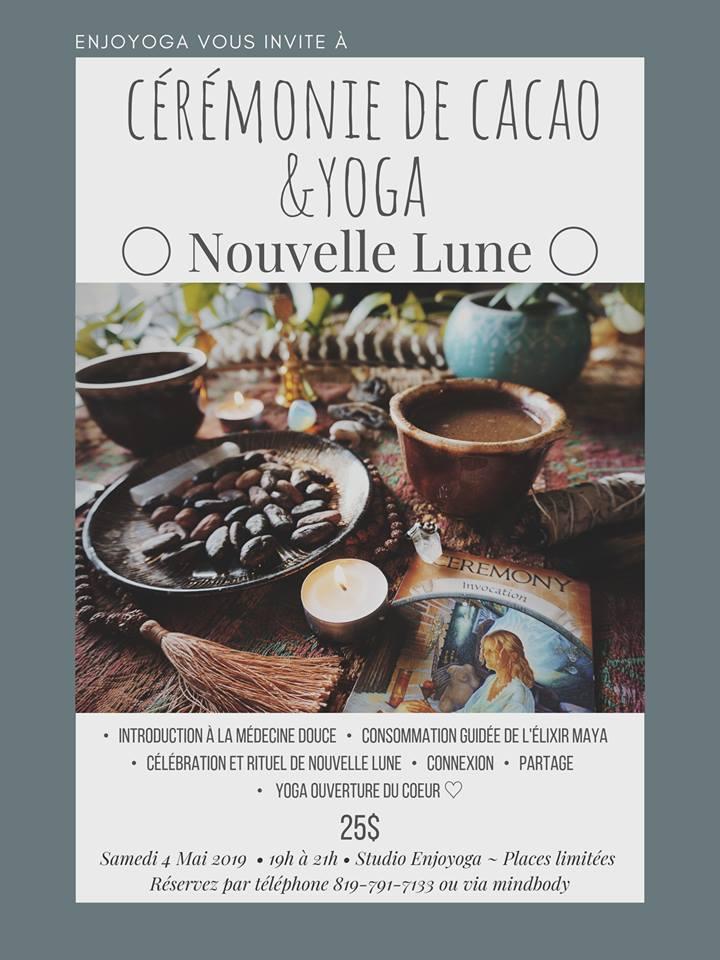 Cérémonie de Cacao Yoga Nouvelle Lune